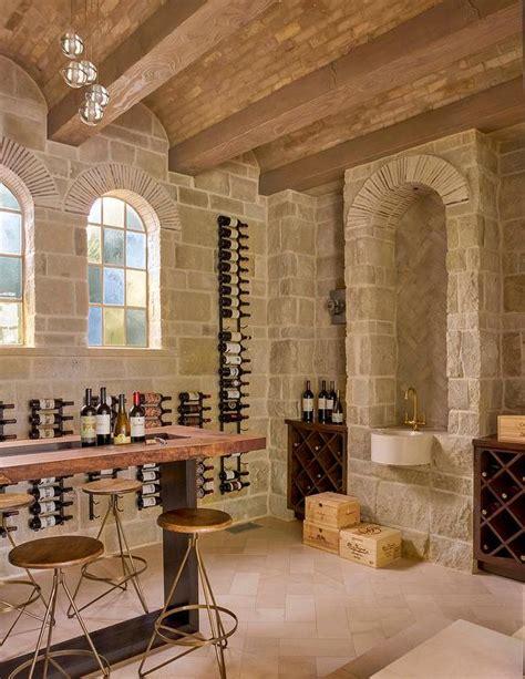 basement stone wine cellar  barrel ceilings