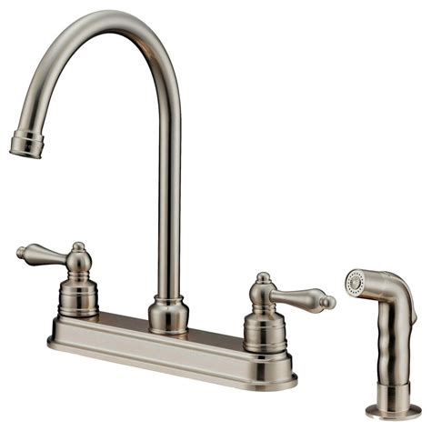goose nose kitchen faucets  sprayer  inches spread