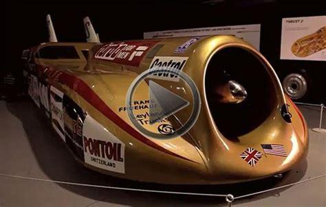 thrust  world speed record car presented
