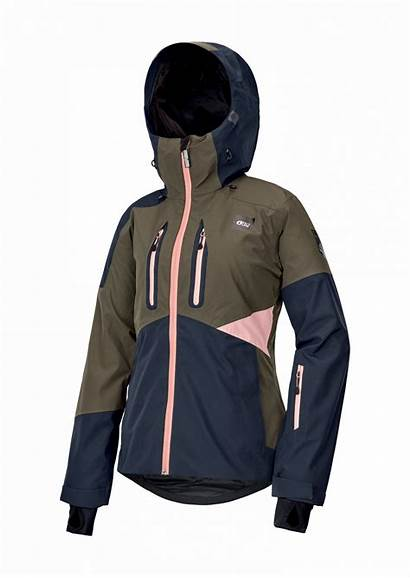 Organic Jacket Seen Ski Army Dark Womens