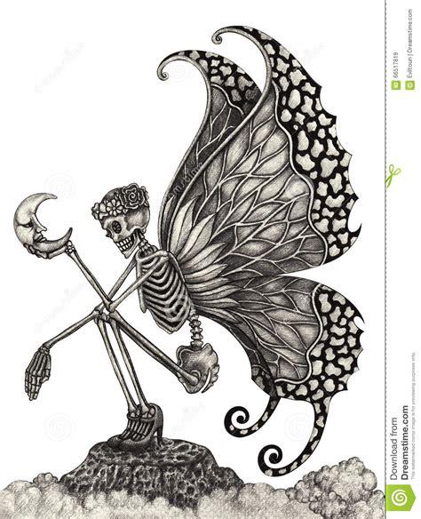 Art Skull Fairy Surreal Stock Illustration Image