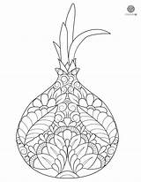 Coloring Onion Onions Printable Mandala Pages sketch template