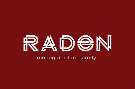 radon monogram logo font fonts creative market