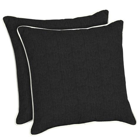 Black Throw Pillows by Home Decorators Collection Sunbrella Canvas Black Square