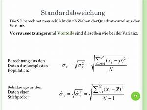 Mittlere Abweichung Berechnen : deskriptive statistik und wahrscheinlichkeitstheorie ppt video online herunterladen ~ Themetempest.com Abrechnung