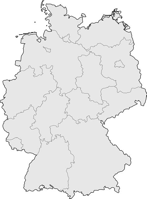 Germany | measurement systems only. Germany Blank Map • Mapsof.net