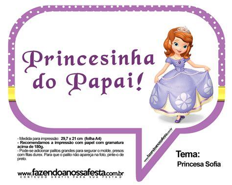 Plaquinhas Divertidas Princesa Sofia 11 Fazendo a Nossa