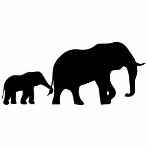 The gallery for --> Cute Baby Elephant Silhouette Trunk Up