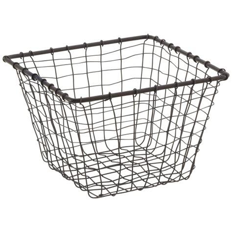 Wire Baskets  Rustic Marché Steel Wire Storage Baskets