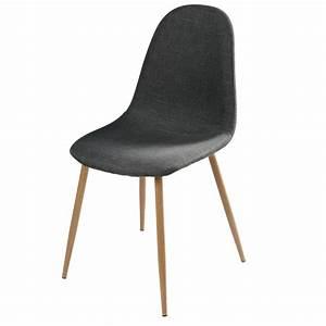 Chaise En Tissu : chaise en tissu anthracite clyde maisons du monde ~ Teatrodelosmanantiales.com Idées de Décoration