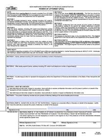 Financial Power of Attorney Form