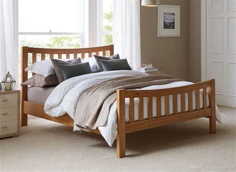 sherwood oak wooden bed frame