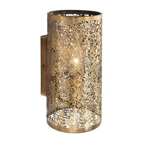 endon secret garden 1lt wall light 40w antique brass