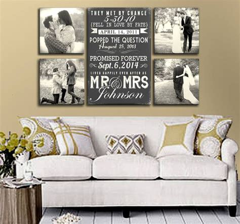 Living Room Decorating Ideas For Couples by Wedding Photo Display In Wall Decor