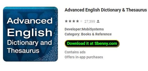 Modified Synonym Dictionary by Advanced Dictionary Thesaurus Mod Apk