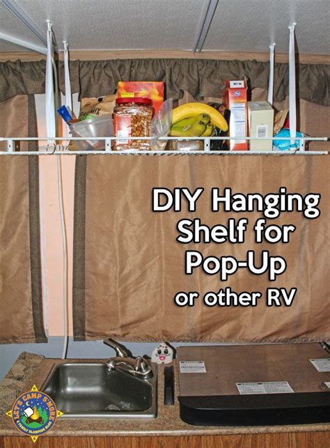 simple diy hanging shelf hack   pop  camper   simple hanging shelf