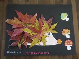 Bricolage Automne Primaire : le h risson en feuilles d automne bricolage des tout petits les cahiers de lucie rose ~ Dode.kayakingforconservation.com Idées de Décoration