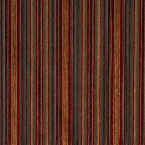 ruby beige  burgundy small scale stripe chenille
