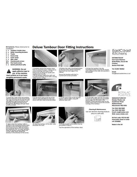 Kitchen Door 500 X 720 by 720 X 500mm Premium Tambour Door Kit Stainless Steel Effect