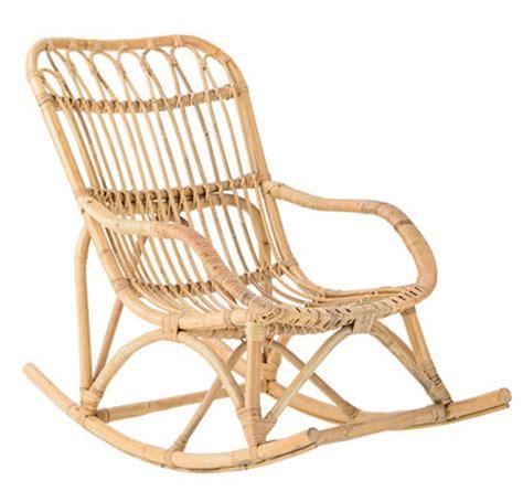 rocking chair en rotin rocking chair enfant rotin rotin naturel bloomingville