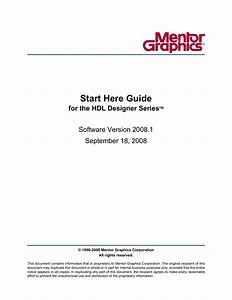 Start Here Guide For The Hdl Designer Series