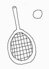 Colorear Raqueta Raquetas Dibujos Coloring Tennis Racket Racquet sketch template