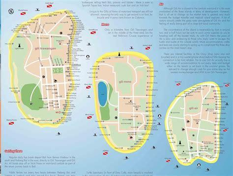 mappa isole gili bali bagus
