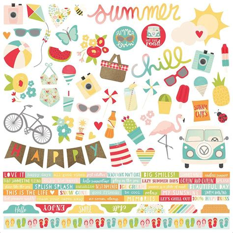 Maybe you would like to learn more about one of these? Summer Days Combo Stickers - From Simple Stories Summer ...