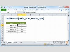 How to use the Excel WEEKNUM function Exceljet