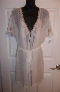 california dynasty ivory sheer short robe night gown w With robe ca