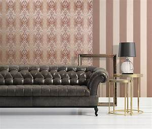 Tapete Grün Gelb : streifentapete edem 771 35 tapete hochwertige barock pastell gelb gr n gelb bronze ~ Sanjose-hotels-ca.com Haus und Dekorationen