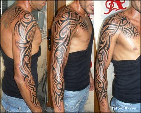Tatouage Epaule Pectoraux Tribal Tattooart Hd