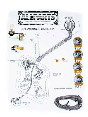 wiring kit for sg guitars allpartsitalia
