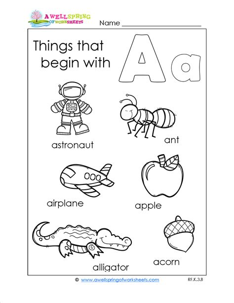 things that start with the letter a beginning sounds coloring worksheets worksheet exle 41901