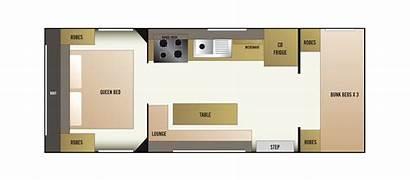 Caravan Floor Layout Plan Plans Bed Bunk