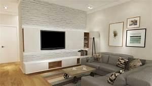 Fernseher An Die Wand : wohnideen tv wand ~ Bigdaddyawards.com Haus und Dekorationen