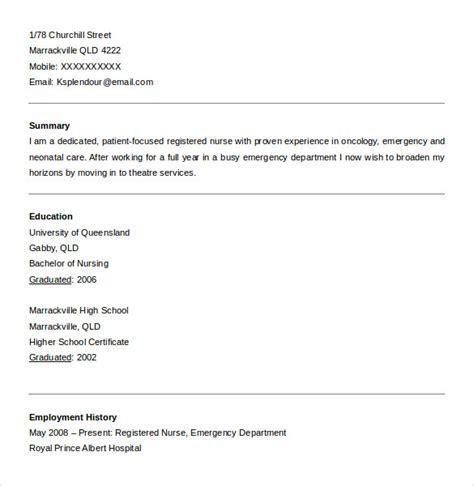 Registered Resume Sles by Sle Registered Resume 7 Free