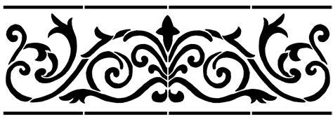 border stencil flowers  stencil