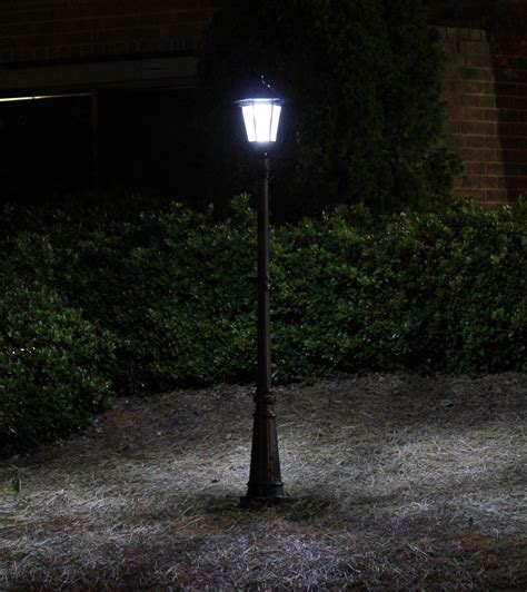 backyard solar lights gama sonic solar outdoor post light