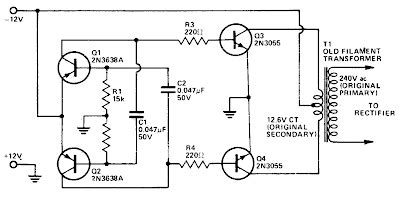 Inverter Circuit Diagram Electronic