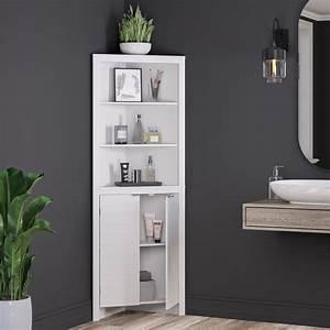 Riverridge, Madison, Collection, Tall, Corner, Cabinet, -, White, -, Walmart, Com