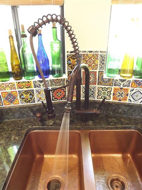 copper kitchen sink verde peacock granite counter home