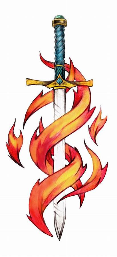 Tattoos Sword Tattoo Cool Zeichnen Colored Drawings