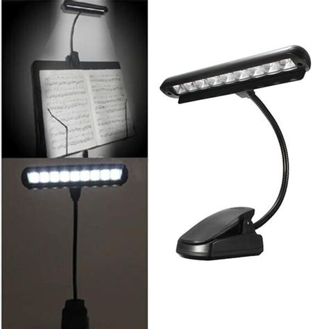 9 leds clip on orchestra stand piano l