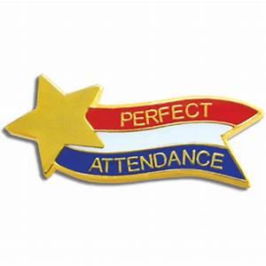 RWB Perfect Attendance Pin - Jones School Supply