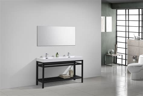 cisco  double sink stainless steel console  white