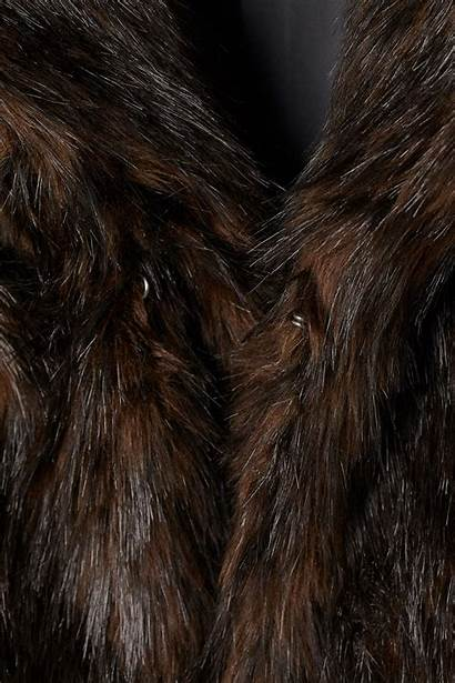 Fur Faux Coat Brown Hm Dark Lyst