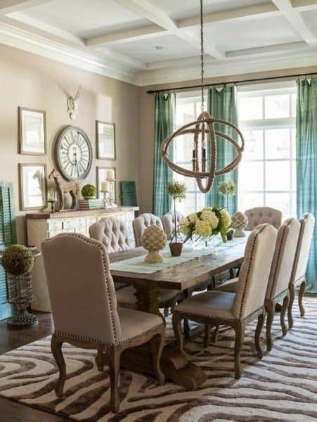 To create a rustic living room that is full of sophistication, keep things on the straight and narrow. Top 40 Best Rustic Dining Room Ideas - Vintage Home Interior Designs