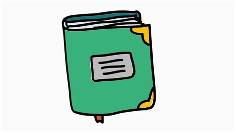 Books 2 Icon Cartoon Illustration Hand Drawn Animation