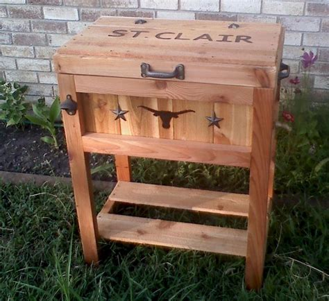 ideas  wooden ice chest  pinterest ice chest cooler diy cooler  rustic deck